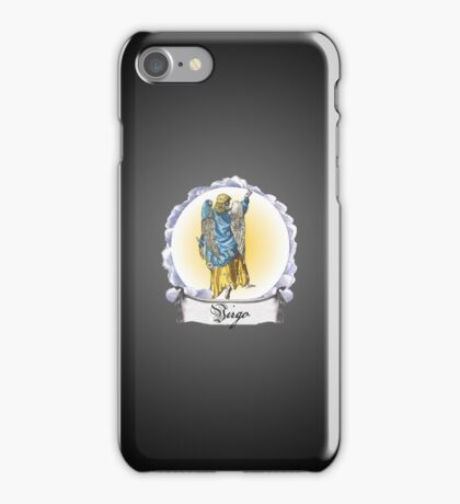 Virgo  Zodiac Astrology iPhone, iPod Case Fade to Black, Super Lush iPhone Case/Skin