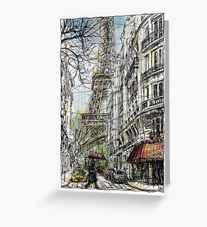 Paris 5 in colour Greeting Card