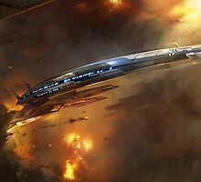 Mass Effect Normandy Illustration by Connor  Foley