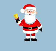 Happy Santa Claus with a bell. Unisex T-Shirt