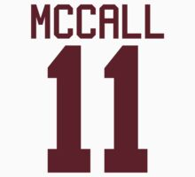Scott McCall's Jersey - maroon/red text Kids Clothes