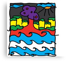 """""""Deep in the water"""" tee Canvas Print"""