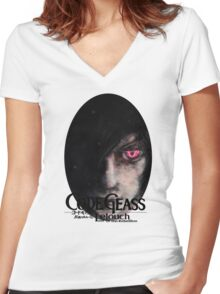 Lelouch of the Rebellion-Code Geass Women's Fitted V-Neck T-Shirt