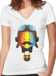 everyone can fly Women's Fitted V-Neck T-Shirt
