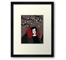 UNDER THE RED MOON Framed Print