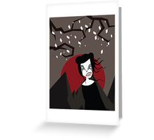 UNDER THE RED MOON Greeting Card