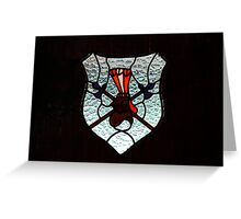 Window Coat of Arms Greeting Card