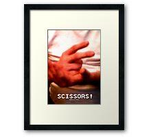 Scissors! Framed Print