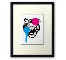 Angry Tiger Graffiti Framed Print