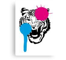 Angry Tiger Graffiti Canvas Print