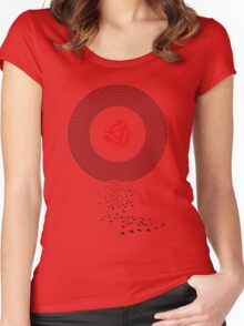 Music on Vinyl Women's Fitted Scoop T-Shirt