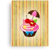 Summer Cupcake Canvas Print