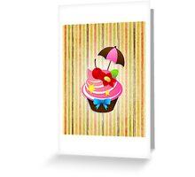 Summer Cupcake Greeting Card