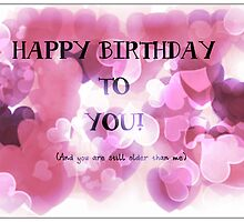 Happy Birthday to you Greeting card by Nicola jayne