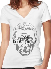 Ceasar Conquered Women's Fitted V-Neck T-Shirt