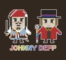 Pixel Johnny Depp by AmoyValentine Huang