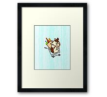 Moo on the Go! Framed Print