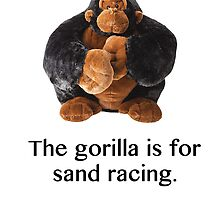 The gorilla for sand racing  by cavepainter