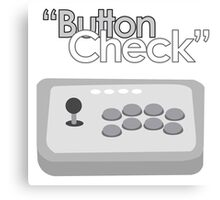 Button Check Fighting Game Arcade Stick Canvas Print