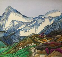 Those Majestic Mountains 2000 by Janet-Hinshaw