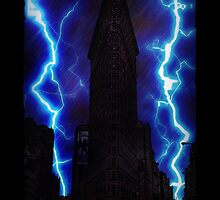 Stormy Flatiron Building, New York by icoNYC