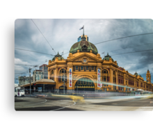 Rush Hour at Flinders Station Canvas Print