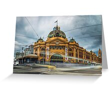 Rush Hour at Flinders Station Greeting Card