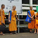 Four Young Monks Waiting for a Boat Ride by Christian Eccleston