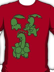 Grass Johto Starters Silohouettes T-Shirt