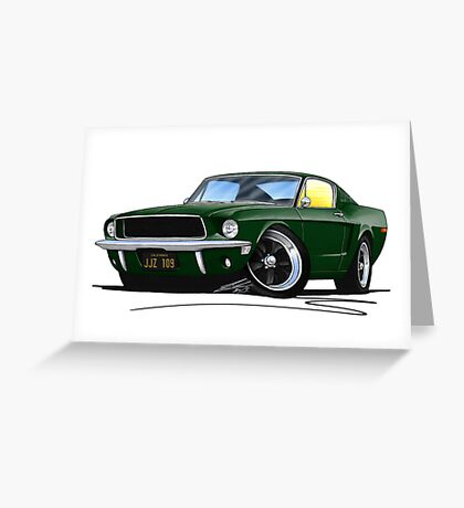 Ford Mustang GT390 Bullitt Greeting Card