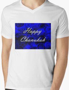 Happy Chanukah Swirls Mens V-Neck T-Shirt