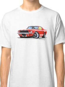 Ford Mustang (1967) Red (White Stripes) Classic T-Shirt