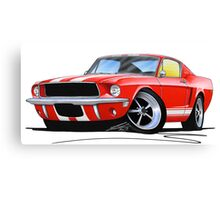 Ford Mustang (1967) Red (White Stripes) Canvas Print