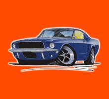 Ford Mustang (1967) Blue Kids Tee