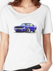 Ford Mustang (1967) Blue Women's Relaxed Fit T-Shirt