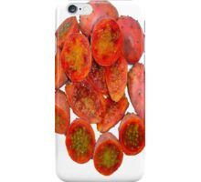 Tropical Red Prickly Pear Fruit  iPhone Case/Skin