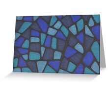 Blue Reptile Greeting Card