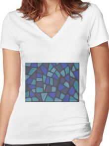 Blue Reptile Women's Fitted V-Neck T-Shirt