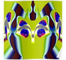 contemporary techno art 1038 Poster
