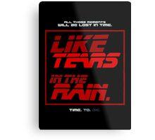 Tears in the Rain Metal Print