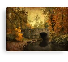 Bridge to Autumn Canvas Print