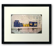 What's on the kitchen shelf? Framed Print