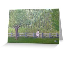 White Horse Awaits Visit Greeting Card