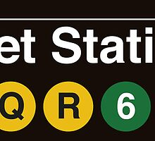 NYC Canal St Station - J-M-Z-N-Q-R-6 by axemangraphics