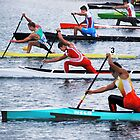 Rowing Race by Laurie Minor