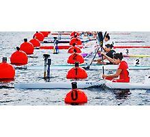 Kayak Sprint Photographic Print