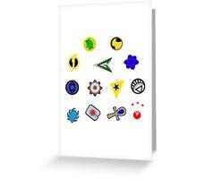 Superhero symbols Greeting Card