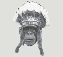 Indian Headdress Monkey by WAMTEES