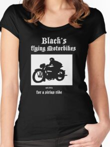 Black's Flying Motorbikes Women's Fitted Scoop T-Shirt