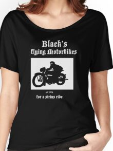Black's Flying Motorbikes Women's Relaxed Fit T-Shirt